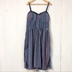 Jolie Blue and Pink Multi Aztec Print Mini Dress